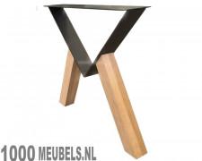 Flat Triangle Oak Wood design table legs