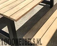 Wood outside garden table