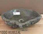 Natuursteen wasbak 40...50cm x 30...40cm x 15cm