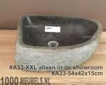 Riverstone sink 40...50cm x 30...40cm x 15cm