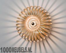 Wood lamp meta wall