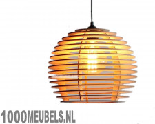 Wood pendant lamp omega