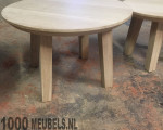 Oak saloontable round