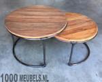 salon table set round duo