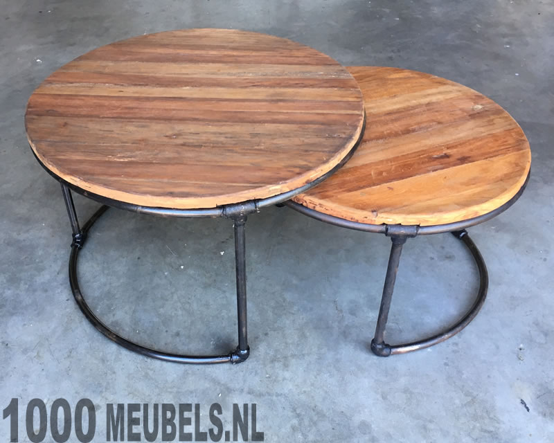 Salontafel set rond duo