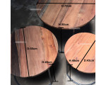Salontafel set van 3 Stijlvol Rond Teak Trio